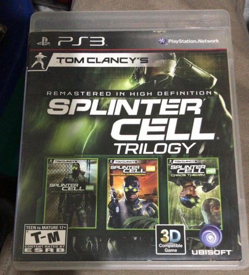 Ps3 Jogo Splinter Cell Trilogy - Frete $10