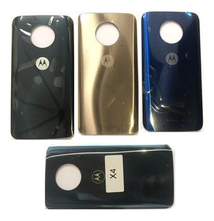 Tampa Traseira De Vidro Motorola Moto X4 Azul Original