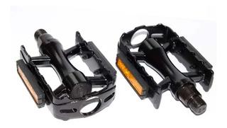 Pedales De Aluminio Xerama Aluminio Negro Rosca 9/16