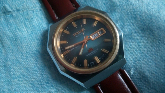 Relógio Ricoh Crystal 21 Rubís Antigo Automático (excelente)