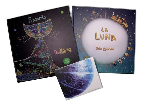 Libro-disco Firmamento+libro La Luna+disco Mundo Sonajero