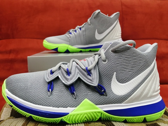 Nike Kyrie Irving 5 Wolf Grey Lime Blast.