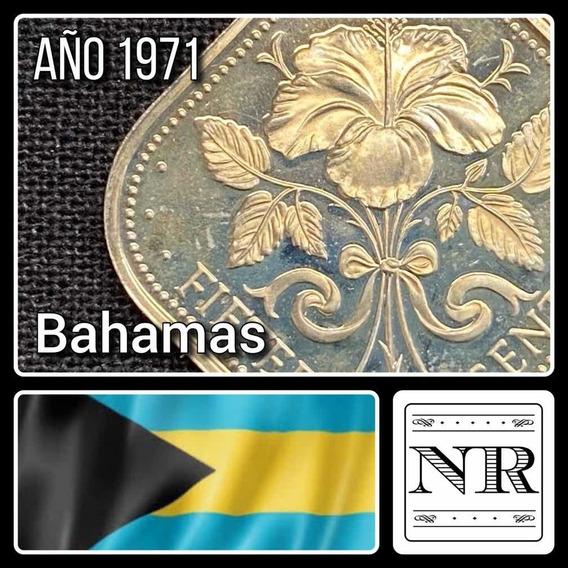 Bahamas - 15 Cents - Año 1971 - Km #19 - Cuadrada - Proof
