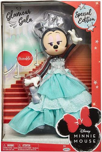 Muñeca Figura Minnie Mouse Articulada Edicion Especial Gala
