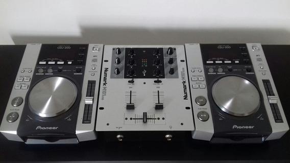 Cdj 200 (par) + Mixer Numark M101 Usb