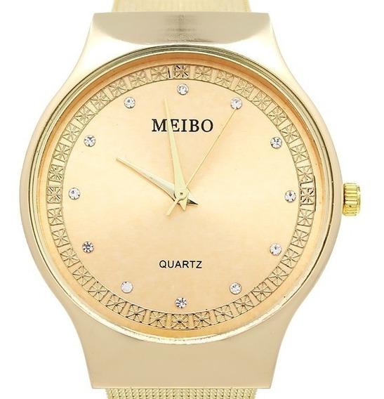 Reloj Para Mujer 2019 Análogo Vell - Dorado