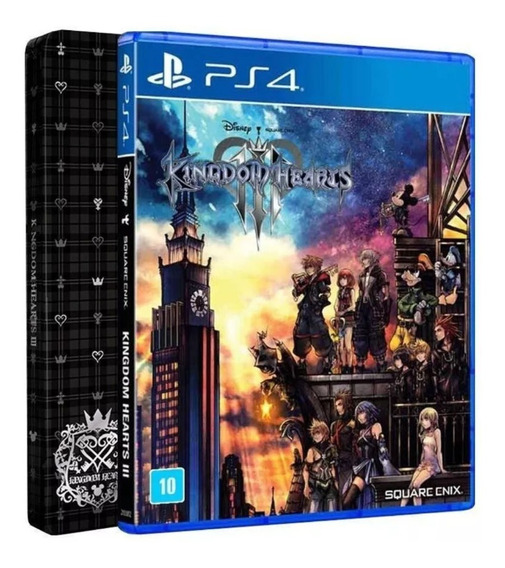 Kingdom Hearts 3 Stellbook, Ps4, Midia Fisica