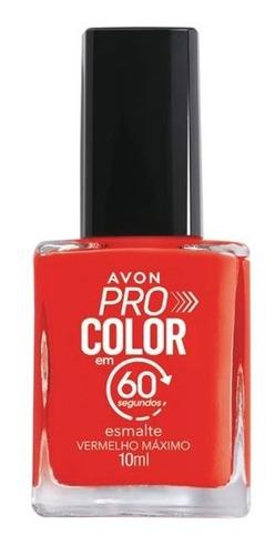 Imagem 1 de 1 de Avon - Pro Color 60 Segundos - Esmalte - Vermelho Máximo