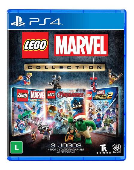 Jogo Midia Fisica Lego Marvel Collection Original Para Ps4