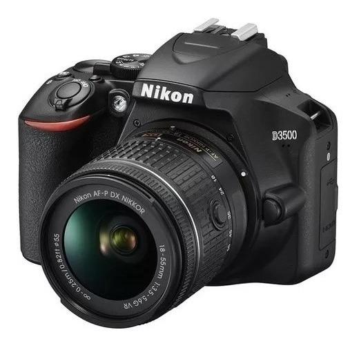 Maquina Fotográfica Nikon D3500+18-55mm+32gb+bolsa+tripé