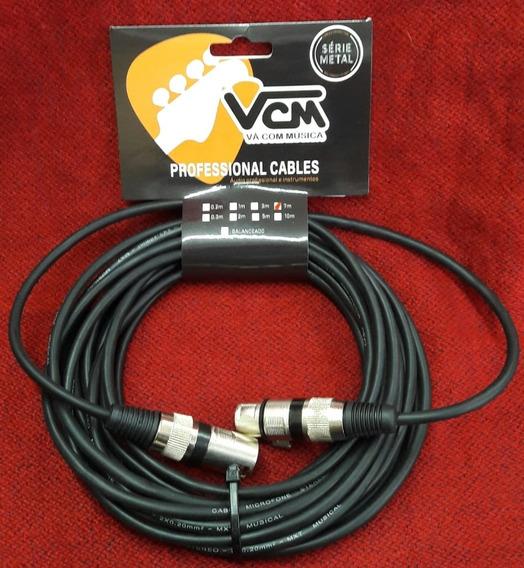 Cabo Vcm Microfone Balanceado 7m Xlr/xlr Vcmcb01