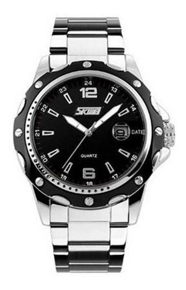 Relógio Masculino Skmei Analógico Modelo 0992 Prata Rf. 002.
