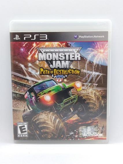 Monster Jam Path Of Destruction Ps3 Midia Fisica Jogo Game