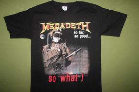 Gusanobass Playera Rock Metal Megadeth So Far Thrash 2 X L