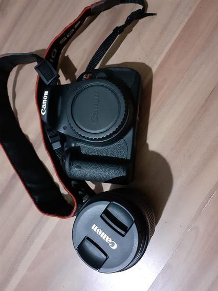 Camera Canon T5i + Lente Efs 18-55 Mm Semi-nova