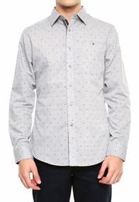 Camisa Simple People Hombre Caballero De Vestir Gris Talla L