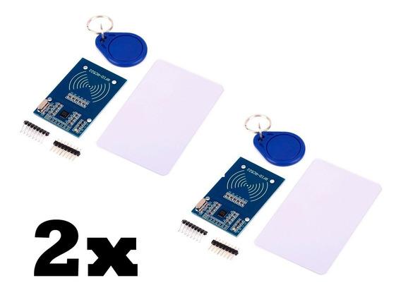 Kit 2x Leitor Rfid Rc522 Mfrc 522 Cartão Tag Mifare 13.56mhz Arduino