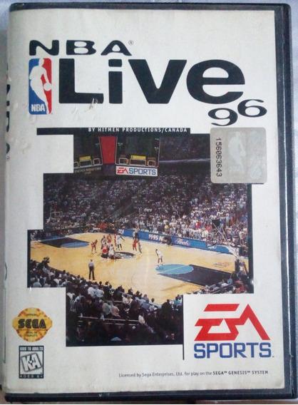 Cartucho Mega Drive Jogo - Nba Live 96 - Sega Genesis