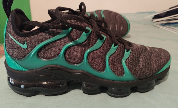 Nike Vapormax Plus Verde E Preto (green And Black) Us 9,5