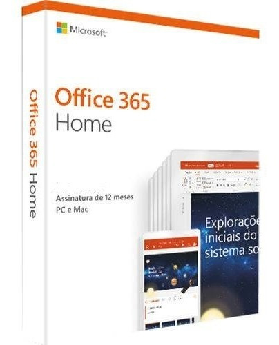 Office 365 Home+1tb Onedrive+60min Skype - 1 Ano Original