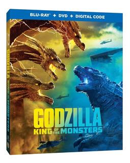 Godzilla King Of The Monsters Blu Ray + Dvd Importado Stock