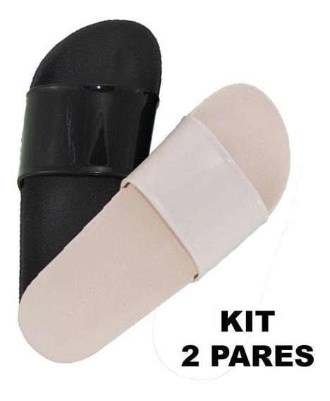 Kit 2 Pares Chinelo Slide Zaxy Gaspea 17333 Preço Baixo