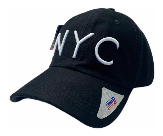Boné Aba Curva Com Regulagem Strapback Nyc New York City