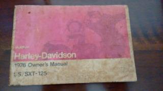 Manual Do Prop. Da Harley-davidson Motovi Ss/sxt-125