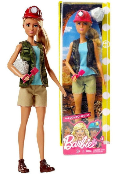 Boneca Barbie Profissões Paleontóloga Arqueóloga - Mattel