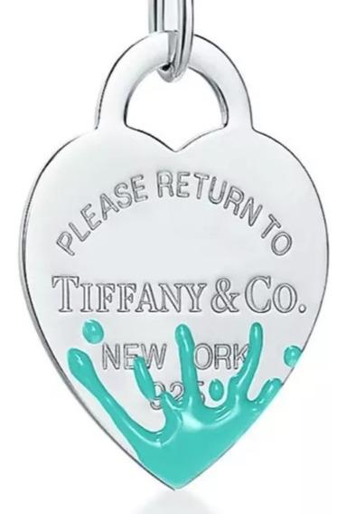 Colar Tiffany & Co Coração Splash Novo Com Acessórios