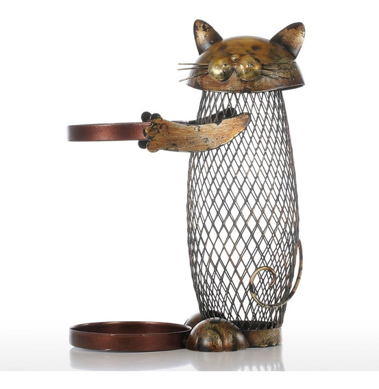 Tooarts Cat Wine Holder Cork Contenedor Decoracin Para El