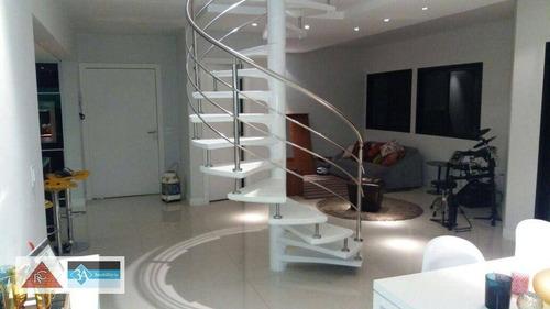 Cobertura Com 2 Dormitórios À Venda, 240 M² Por R$ 1.380.000,00 - Tatuapé - São Paulo/sp - Co0183