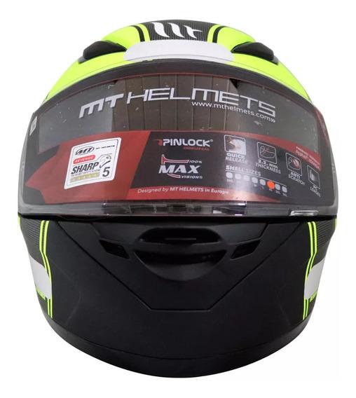 Capacete Mt Helmets Revenge Naked B3 Preto Fosco E Amarelo