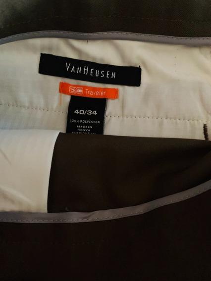 Pantalón De Vestir - Van Heusen 40x34 Usa