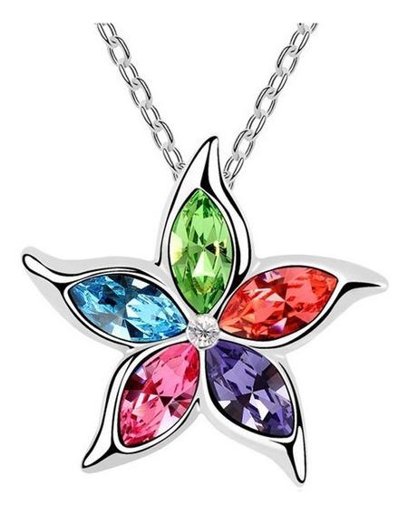 Dije Starfish Ak Jewelry Cristales Circonio Con Cadena