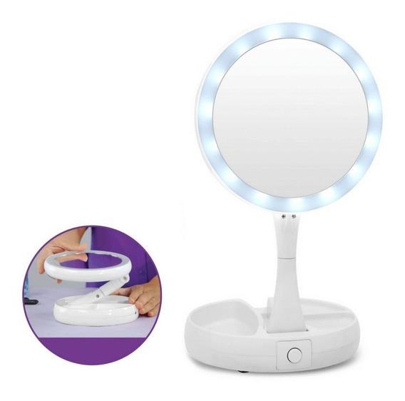 Espejo Luz Led Tactil Usb Maquillaje Portatil Aumento !!!