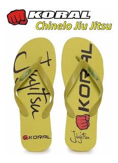 Chinelo Koral Jiu Jitsu Amarelo