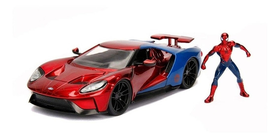 Vehículo Metals Hollywood Rides Ford Gt 1.24 - Spiderman
