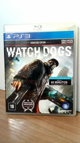 Watch Dogs Signature Edition Ps3 Usado