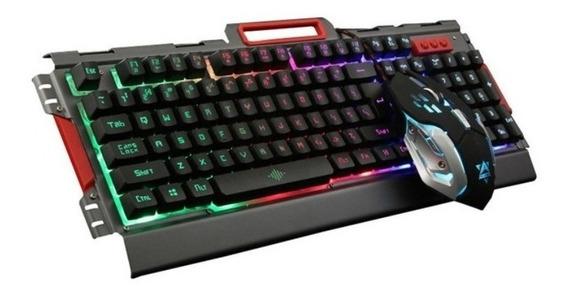 Kit Teclado Y Mouse Gamer Metal 3600 Dpi Full Color Luz K33