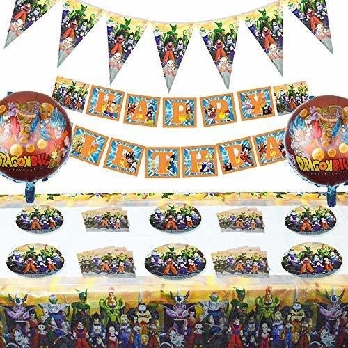 Imagen 1 de 4 de Set Of 68 Pcs Dragon Ball Z Theme Birthday Party Supplies A
