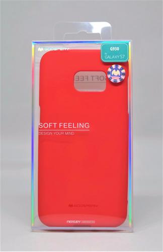 Funda Galaxy S7  Mercury Goospery Soft Feeling Rojo