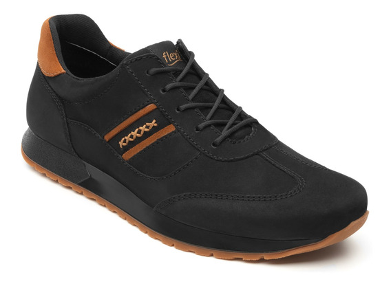 Sneaker Universitario Flexi Caballero 403102 Negro