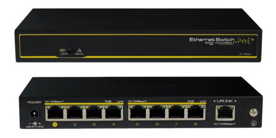Cygnus S1008-120-v1 Switch Cctv Ethernet Poe+ 8 Downlink + 1