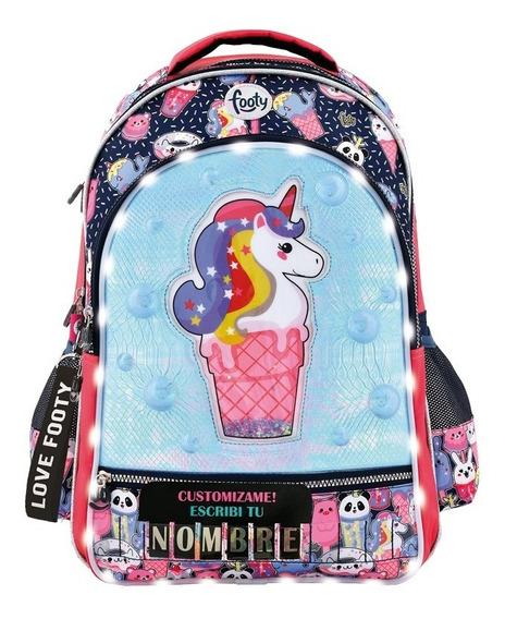 Mochila Unicornio 3d Con Led Personalizada 18