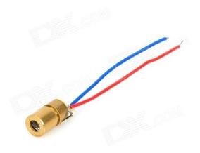 05 Peças - Laser Diodo Vermelho 5v 650nm 6mm Arduino Alarme
