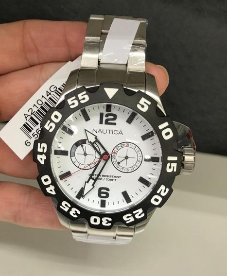 Relógio Nautica Cronografo A21014g Na Altarelojoaria