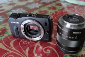 Camera Canon Eos M - Com Lente 18-55 Mm