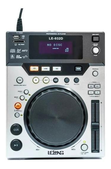 Cdj Profissional Para Dj Lelong Le-932d Disco Mp3 Sd Usb