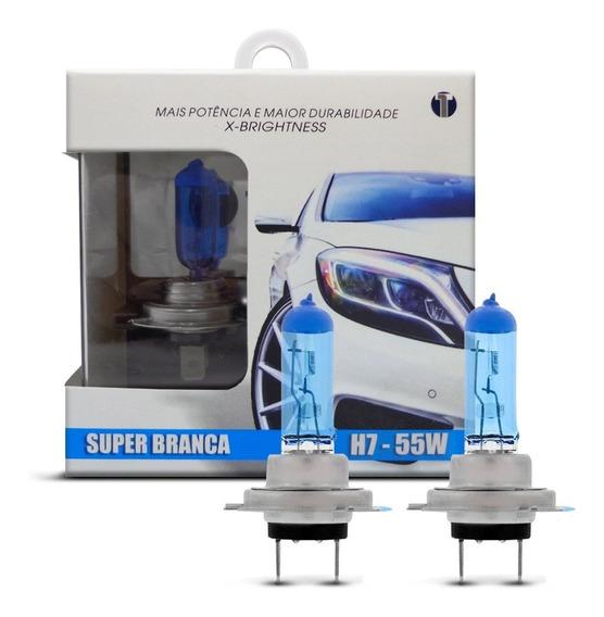 Par Lampada 8500k Super Branca Tech One - H1 H3 H4 H7 H9 Hb3